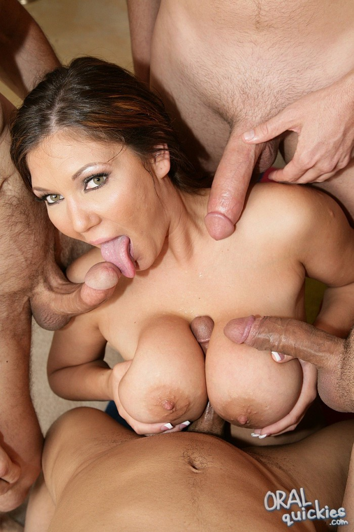 Big titted brunette group fucking their own